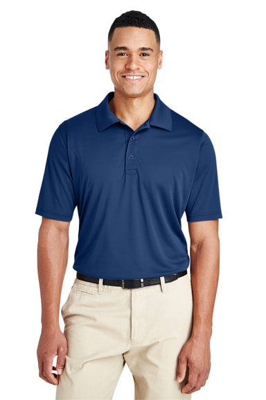 Team 365 TT51 Mens Zone Performance Moisture Wicking Short Sleeve Polo Shirt Navy Blue Front