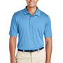 Team 365 Mens Zone Performance Moisture Wicking Short Sleeve Polo Shirt - Light Blue