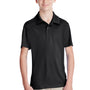 Team 365 Youth Zone Performance Moisture Wicking Short Sleeve Polo Shirt - Black