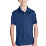 Team 365 Youth Zone Performance Moisture Wicking Short Sleeve Polo Shirt - Dark Navy Blue