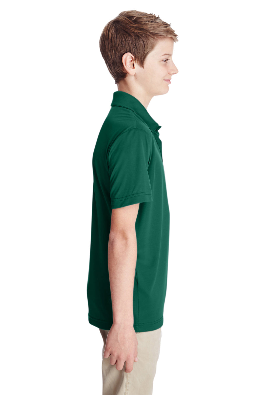 Team 365 TT51Y Youth Zone Performance Moisture Wicking Short Sleeve Polo Shirt Forest Green Side