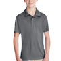 Team 365 Youth Zone Performance Moisture Wicking Short Sleeve Polo Shirt - Graphite Grey