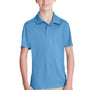 Team 365 Youth Zone Performance Moisture Wicking Short Sleeve Polo Shirt - Light Blue
