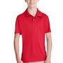 Team 365 Youth Zone Performance Moisture Wicking Short Sleeve Polo Shirt - Red