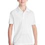 Team 365 Youth Zone Performance Moisture Wicking Short Sleeve Polo Shirt - White