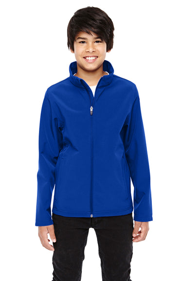 Team 365 TT80Y Youth Leader Waterproof Full Zip Jacket Royal Blue Front