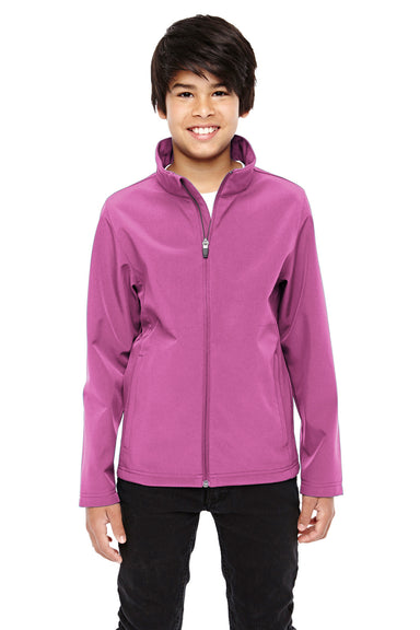Team 365 TT80Y Youth Leader Waterproof Full Zip Jacket Charity Pink Front