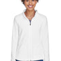 Team 365 Womens Campus Full Zip Microfleece Jacket - White