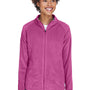 Team 365 Womens Campus Full Zip Microfleece Jacket - Charity Pink