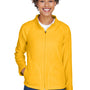 Team 365 Womens Campus Full Zip Microfleece Jacket - Athletic Gold