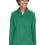 Team 365 Womens Campus Full Zip Microfleece Jacket - Kelly Green