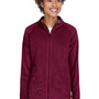 Team 365 Womens Campus Full Zip Microfleece Jacket - Maroon
