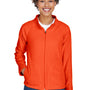 Team 365 Womens Campus Full Zip Microfleece Jacket - Orange