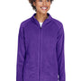 Team 365 Womens Campus Full Zip Microfleece Jacket - Purple