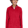 Team 365 Womens Campus Full Zip Microfleece Jacket - Red