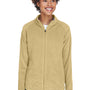 Team 365 Womens Campus Full Zip Microfleece Jacket - Vegas Gold