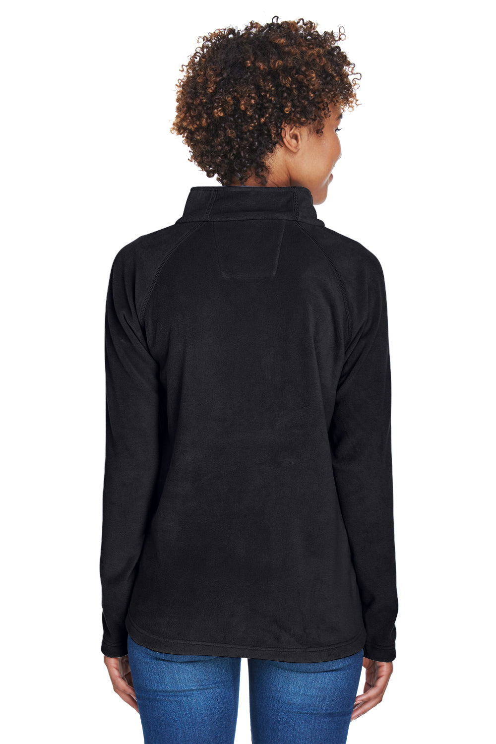 Team 365 TT90W Womens Campus Full Zip Microfleece Jacket Black Back