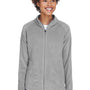 Team 365 Womens Campus Full Zip Microfleece Jacket - Graphite Grey