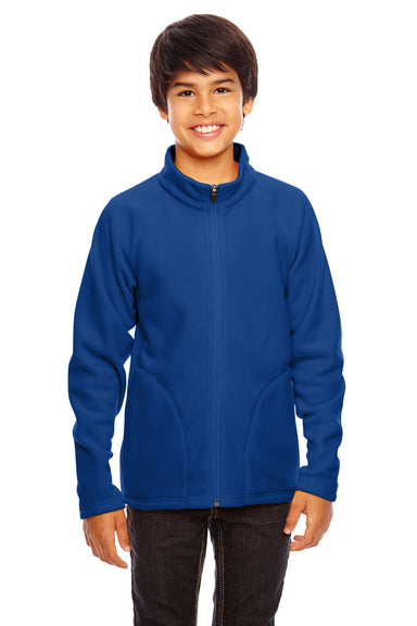 Team 365 TT90Y Youth Campus Full Zip Microfleece Jacket Royal Blue Front