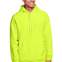 Team 365 Mens Zone HydroSport Fleece Water Resistant Hooded Sweatshirt Hoodie - Safety Yellow