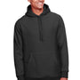 Team 365 Mens Zone HydroSport Fleece Water Resistant Hooded Sweatshirt Hoodie - Black