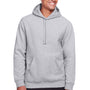 Team 365 Mens Zone HydroSport Fleece Water Resistant Hooded Sweatshirt Hoodie - Heather Grey