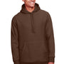 Team 365 Mens Zone HydroSport Fleece Water Resistant Hooded Sweatshirt Hoodie - Dark Brown