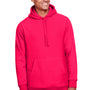 Team 365 Mens Zone HydroSport Fleece Water Resistant Hooded Sweatshirt Hoodie - Red