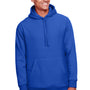 Team 365 Mens Zone HydroSport Fleece Water Resistant Hooded Sweatshirt Hoodie - Royal Blue