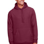 Team 365 Mens Zone HydroSport Fleece Water Resistant Hooded Sweatshirt Hoodie - Dark Maroon