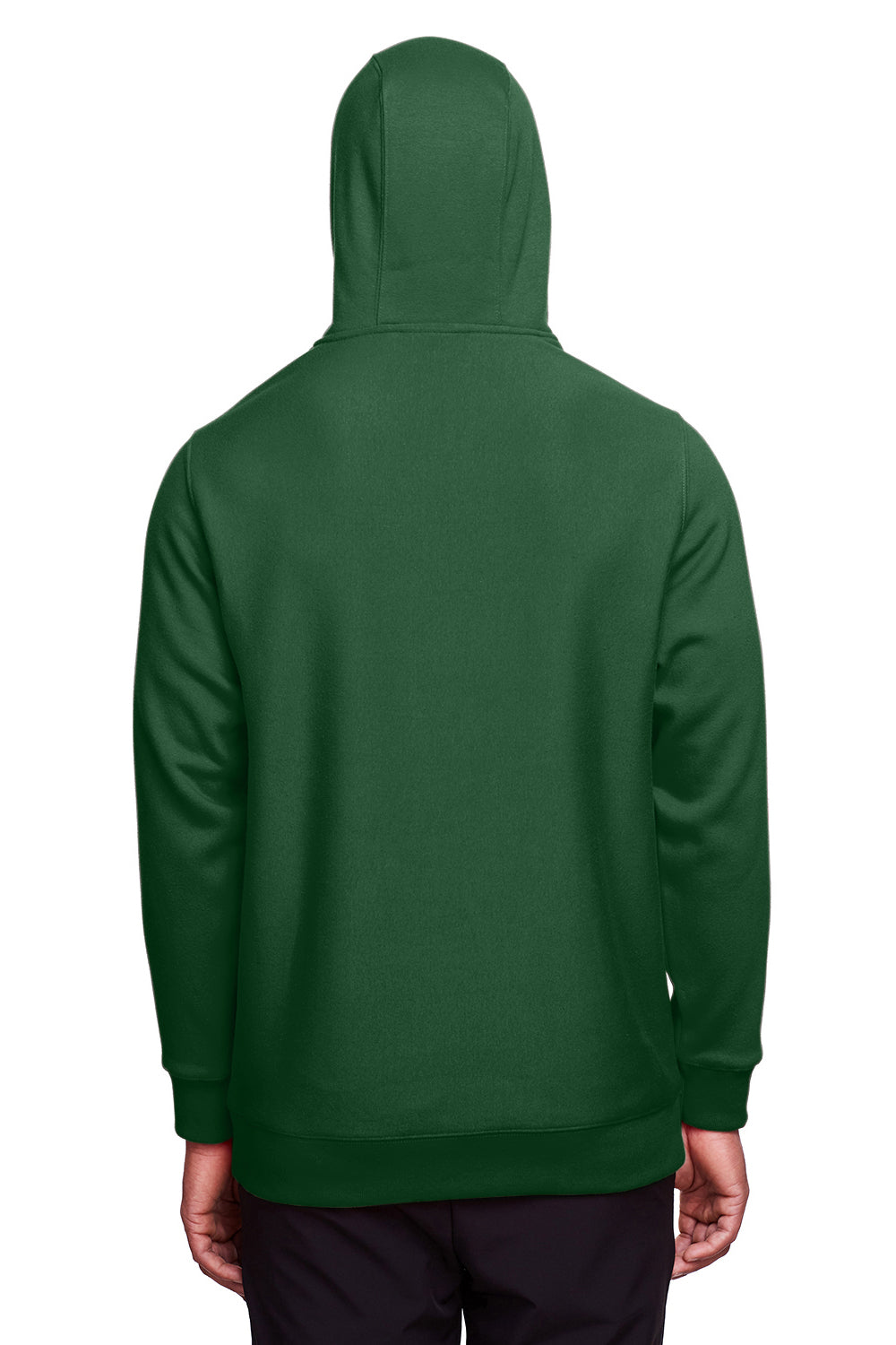 Team 365 TT96 Mens Zone HydroSport Fleece Water Resistant Hooded Sweatshirt Hoodie Dark Green Back
