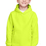 Team 365 Youth Zone HydroSport Fleece Water Resistant Hooded Sweatshirt Hoodie - Safety Yellow