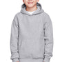 Team 365 Youth Zone HydroSport Fleece Water Resistant Hooded Sweatshirt Hoodie - Heather Grey