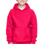 Team 365 Youth Zone HydroSport Fleece Water Resistant Hooded Sweatshirt Hoodie - Red