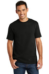 Port & Company USA100 Mens USA Made Short Sleeve Crewneck T-Shirt Black Front