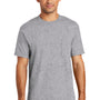 Port & Company Mens USA Made Short Sleeve Crewneck T-Shirt w/ Pocket - Heather Grey