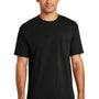 Port & Company Mens USA Made Short Sleeve Crewneck T-Shirt w/ Pocket - Black