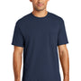 Port & Company Mens USA Made Short Sleeve Crewneck T-Shirt w/ Pocket - Navy Blue