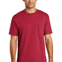 Port & Company Mens USA Made Short Sleeve Crewneck T-Shirt w/ Pocket - Red