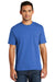 Port & Company USA100P Mens USA Made Short Sleeve Crewneck T-Shirt w/ Pocket Royal Blue Front