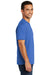 Port & Company USA100P Mens USA Made Short Sleeve Crewneck T-Shirt w/ Pocket Royal Blue Side