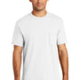 Port & Company Mens USA Made Short Sleeve Crewneck T-Shirt w/ Pocket - White