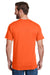 Hanes W110 Mens Workwear Short Sleeve Crewneck T-Shirt w/ Pocket Safety Orange Back