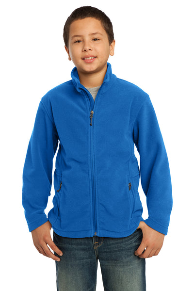 Port Authority Y217 Youth Full Zip Fleece Jacket Royal Blue Front