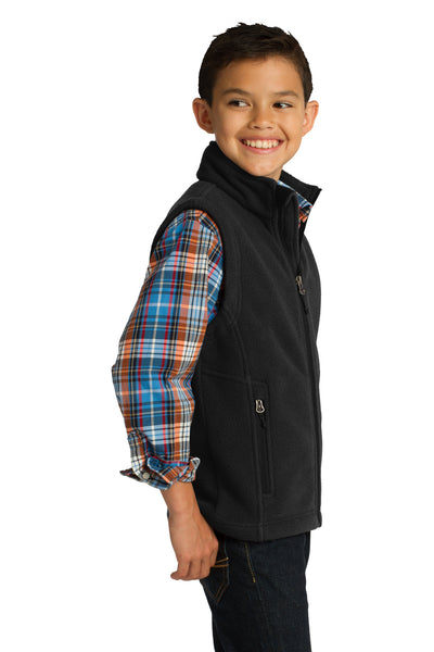 Port Authority Y219 Youth Full Zip Fleece Vest Black Side