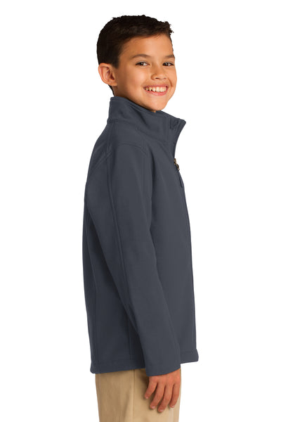 Port Authority Y317 Youth Core Wind & Water Resistant Full Zip Jacket Battleship Grey Side