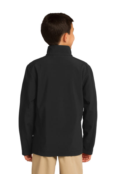 Port Authority Y317 Youth Core Wind & Water Resistant Full Zip Jacket Black Back