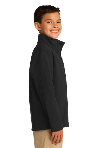 Port Authority Y317 Youth Core Wind & Water Resistant Full Zip Jacket Black Side