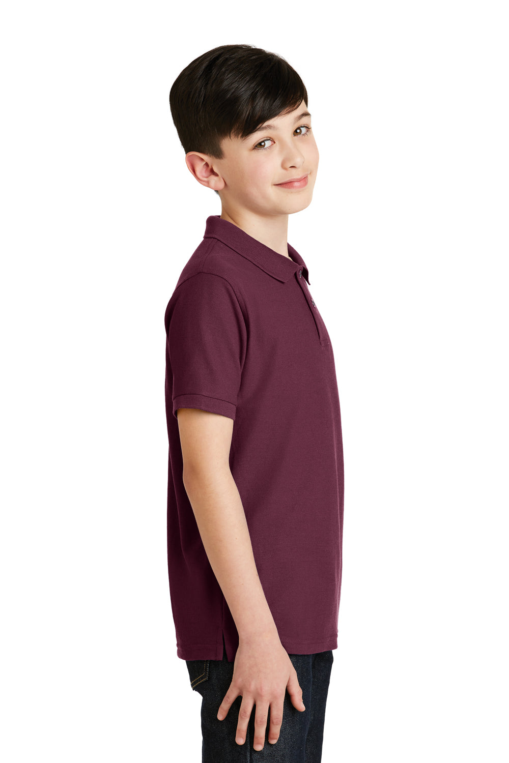 Port Authority Big boys Youth Pique Knit Polo