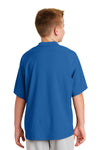 New Era YNEA600 Youth Cage Wind & Water Resistant 1/4 Zip Jacket Royal Blue Back